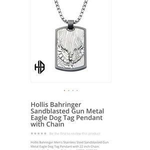 Stainless steel  Eagle Dog Tag Pendant with Chain